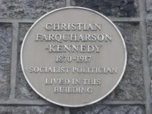 Plaque to Christian Farquharson Kennedy