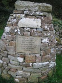 Dedication cairn for the Hilton of Cadboll Stone
