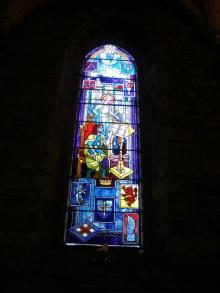 Stained glass window dedicated to Elizabeth MacKay