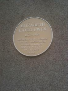 Plaque to Elizabeth Latto Ewen