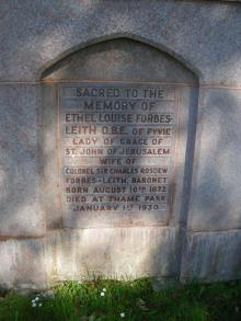 Memorial to Ethel Forbes-Leith