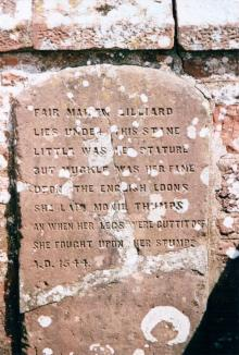 Memorial stone dedicated to Lilias of Ancrum