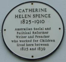 memorial plaque to Catherine Helen Spence