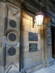 Plaque to Sophia Jex-Blake at Edinburgh University Medical School