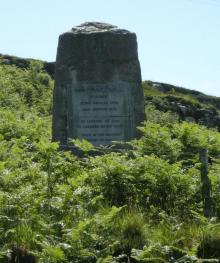 Mary Macdonald memorial taken from roadside