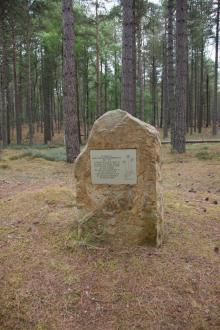 Memorial to Mary McCallum Webster in Culbin Forest (photo by Amanda Thomson)