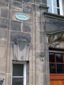 Plaque to Lilian Alcock Plant Pathologist at Royal Botanic Gardens Edinburgh