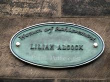 Plaque to Lilian Alcock Plant Pathologist at Royal Botanic Gardens Edinburgh