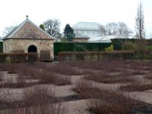 Queen Mother's Memorial Garden in Winter, Royal Botanical Gardens, Edinburgh