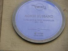 Plaque to Agnes Husband