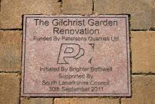 Marion Gilchrist Memorial Garden in Bothwell