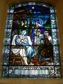 Stained Glass Window in Memory of James M Bryson and Mary Dunn