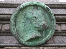 "Portrait plaque of ""Mystic Marie"""