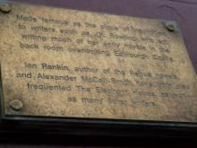 Plaque to J K Rowling