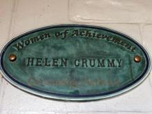 Plaque to Helen Crummy at the Craigmillar Community Arts Centre
