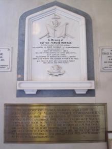 Flora Murray memorial plaque -  broad view
