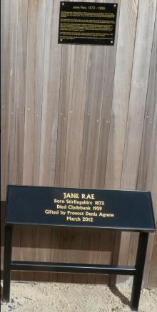 Jane Rae Plaque