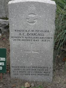 Gravestone of Agnes C. Dougall