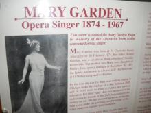 Information panel in the Mary Garden Room