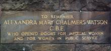 plaque for Alexandra Mary Geddes
