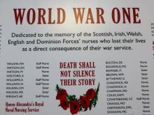 World War One Nursing Memorial at Central Library, Edinburgh
