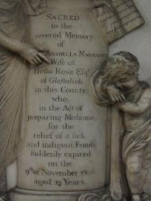 Memorial to Arabella Phipps (detail)