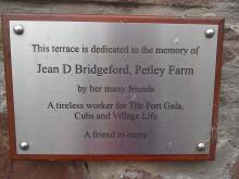 Plaque to Jean D Bridgeford