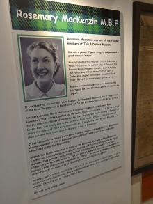 Information Board about Rosemary MacKenzie