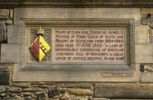 Plaque to Mary of Lorraine at Edinburgh Castle