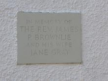 Jane Gray (Mrs James P Brownlie) plaque Thistle Foundation Edinburgh