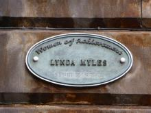 Plaque to Lynda Myles at the Filmhouse, Edinburgh