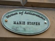 Women of Achievement Plaque to Marie Stopes at 3 Abercromby Place Edinburgh