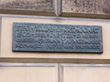 Plaque to Sir William MacTaggart and Fanny Aavatsmark at 4 Drummond Place Edinburgh