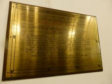 Plaque to Alice Maud Maxwell at former Kirk o' Field, now Greyfriars' Charteris Centre