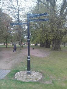 Sign to QM Rose Garden