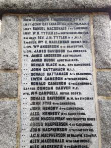 Newtonmore War Memorial
