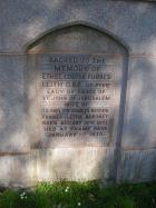 Memorial to Ethel Forbes-Leith