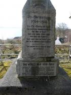 Inscription on Sleat War Memorial to those from Sleat who died during WWII.
