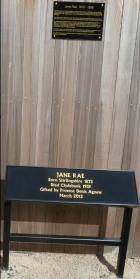 Jane Rae Plaque