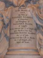 Memorial to Ann Allardyce