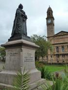 Statue of Queen Victoria in Dunn Square, Paisley
