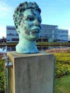 Bust of Jackie Kay at Edinburgh Sculpture Park