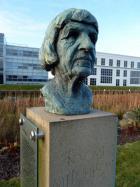 Bust of Naomi Mitchison at Edinburgh Sculpture Park
