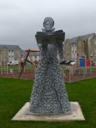 Statue in memory of the 81 women and men who were executed in Presonpans for being alleged witches