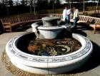 Fountain at Dunblane Memorial Garden in memory of Gwen Mayor and the children who were killed in the Dunblane Massacre