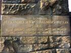Engraved Stone at Elsie Inglis Memorial Maternity Hospital for Alexandra Mary Chalmers Watson