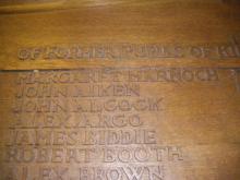 War memorial in Kintore School.