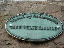 Women of Achievement Plaque to Jane Welsh Carlyle at 3 George Square, Edinburgh