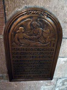 Plaque to Sophia Louisa Jex-Blake inside St Giles Kirk, Edinburgh