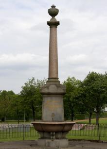 Memorial fountain in Coatbridge